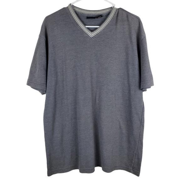 Guess Ribbed Short Sleeve Tee Shirt V Neck T Vtg